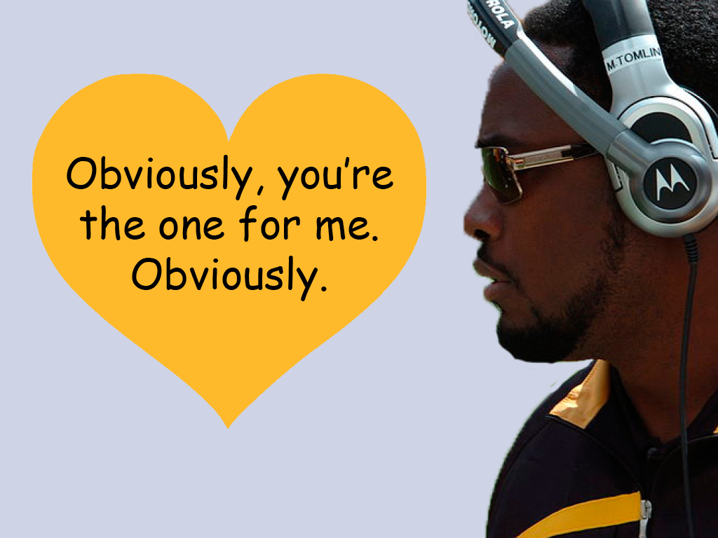 2ce3c1a65 Steelers head coach Mike Tomlin makes a case as a great Valentine with his  forwardness in how he obviously feels. Would you be his Valentine this year
